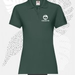 polo donna fruit of the loom 63030 donna verde foresta