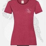 t-shirt donna fruit 61372 rosso vintage heather