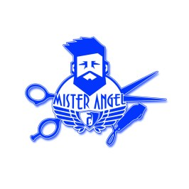 Mister Angel Barber Logo Design