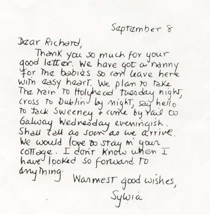 Morettian Graphology: » Sylvia Plath's handwriting analysis