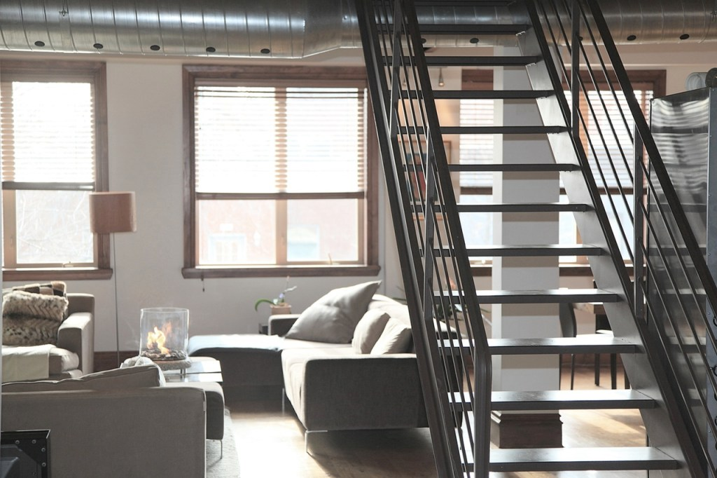cool stairs home loft lifestyle with industrial decorating ideas