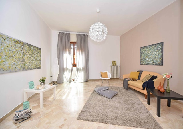 ideas of livingroom decoration with sofa and rug also wall art