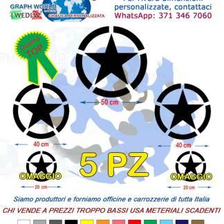 adesivo stella militare