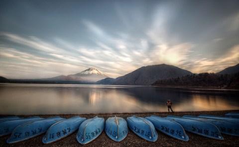 Motosu, Lake, Mt Fuji-san, Japan