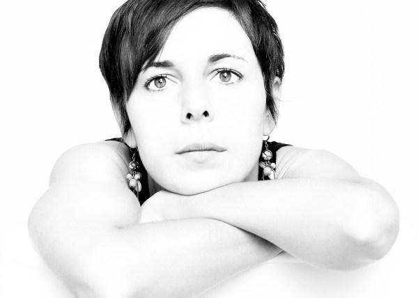 Portrait, Femme, High Key, Noir et Blanc