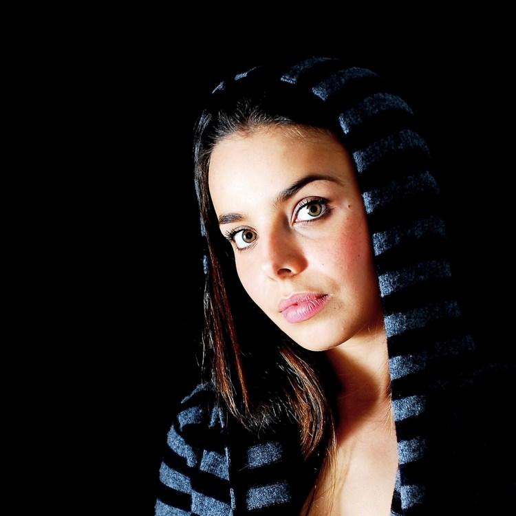 Portrait, Femme, Studio
