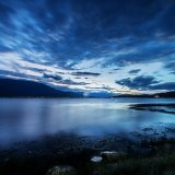 Lake Erhail the night