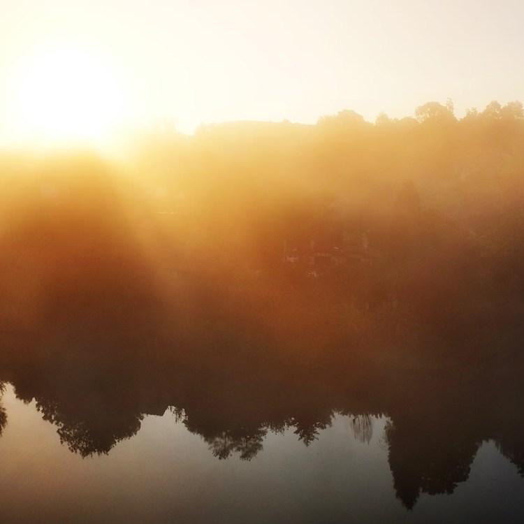 Pont d'Albi, lever de soleil