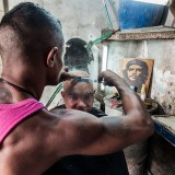 The barber in Havana