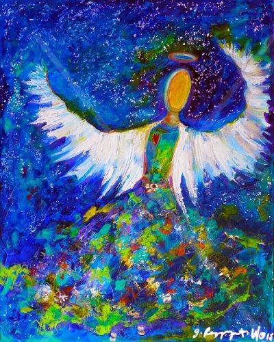 "Blue Angel 2 - 16"" x 20"" - SOLD"