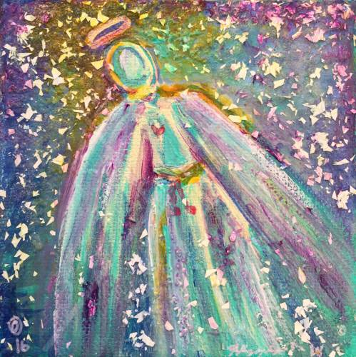 "Angel Within - 4"" x 4"" - $64"
