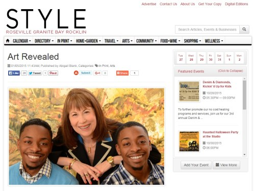 Art Revealed Show Featured in Style Magazine. Click picture to read article.