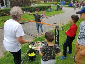 Mini Tennis Clinic met Marie Jose van den Oever (TV Victoria)
