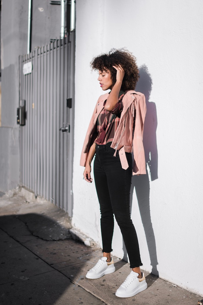 Pink Leather Jacket from Designers Remix  STYLE ME GRASIE