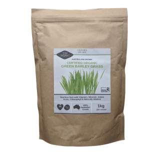 Grasses of Life Australian Organically Grown Green Barley Grass 1kg