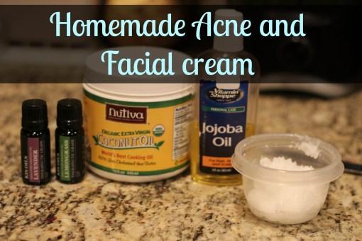 homemade facial cream acne