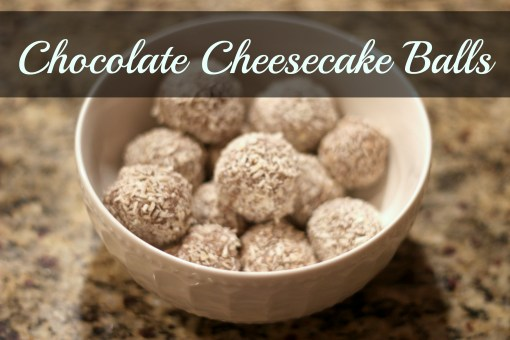 chocolate cheesecake balls