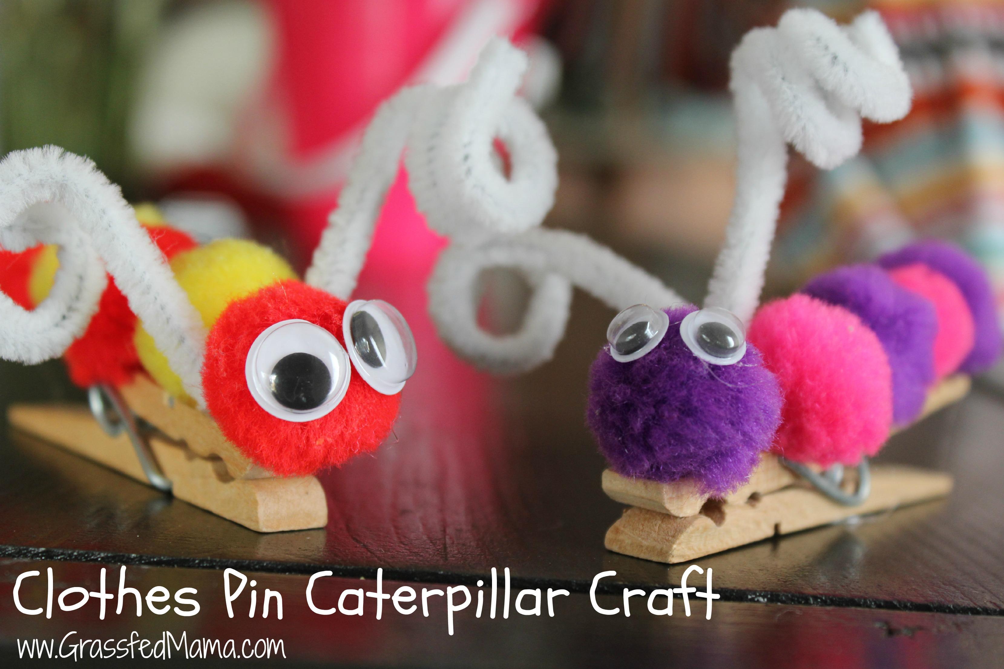 Clothes Pin Caterpillar Craft