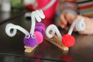 clothes pin crafts, preschool crafts, homeschool crafts, glue gun crafts