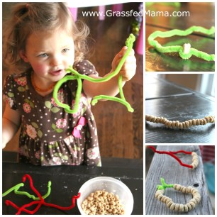 pipe cleaner crafts, easy preschool activity