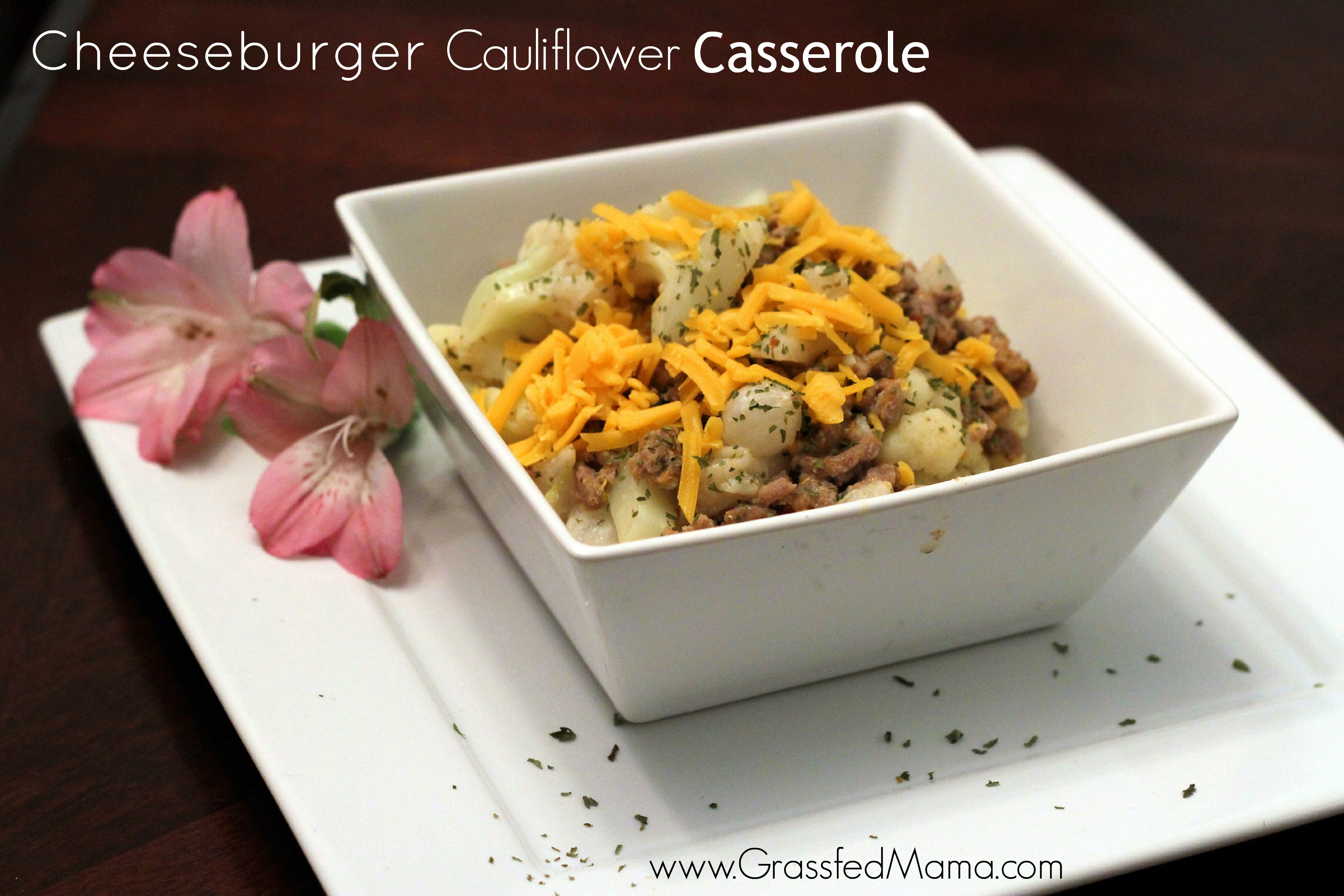 cheeseburger cauliflower casserole main