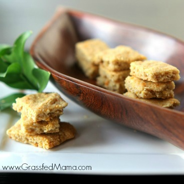 Almond flour cheese crackers square