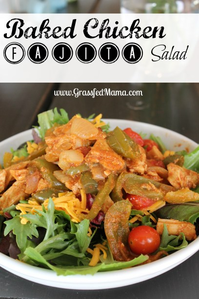 low carb baked chicken fajita salad
