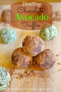 healthy chocolate avocado truffles