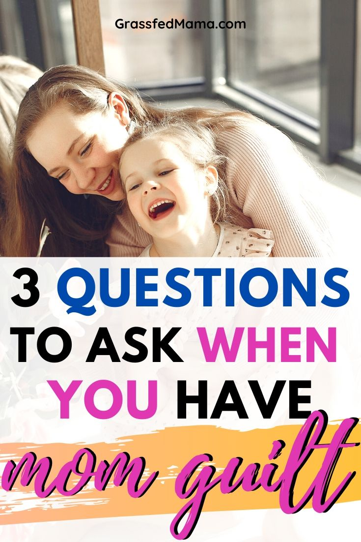 3 Questions to Ask When You Have Mom Guilt
