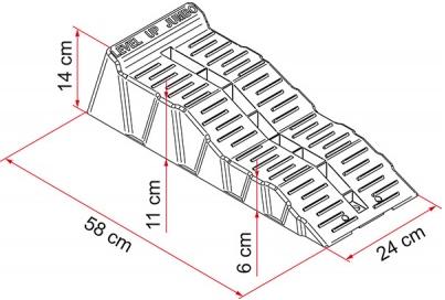 Fiamma Kit Level Up Jumbo Caravan Motorhome Levelling