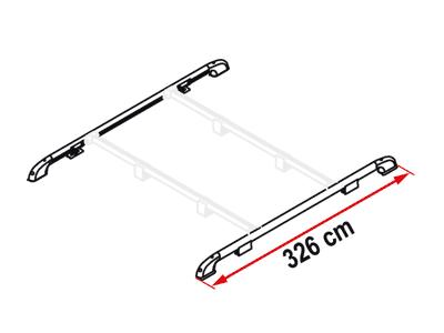 Fiamma Roof Rail Luggage Carrier, Roof Racks Fixing-Bar