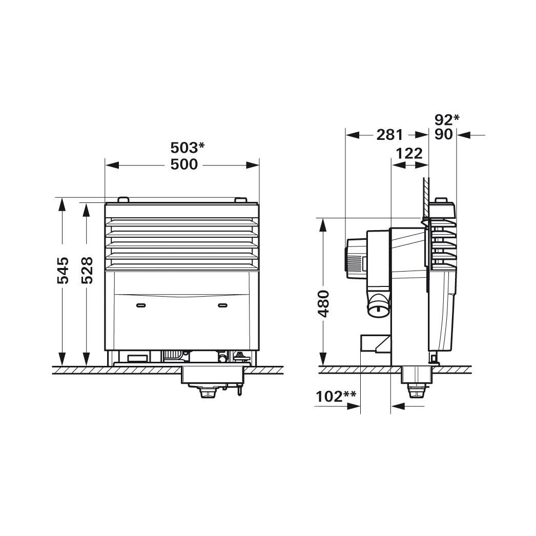 Truma S3004 Gas Fire Heater (Auto Ignition), Caravan