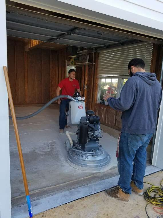 Diamond Grinding Preparation On Garage Floor