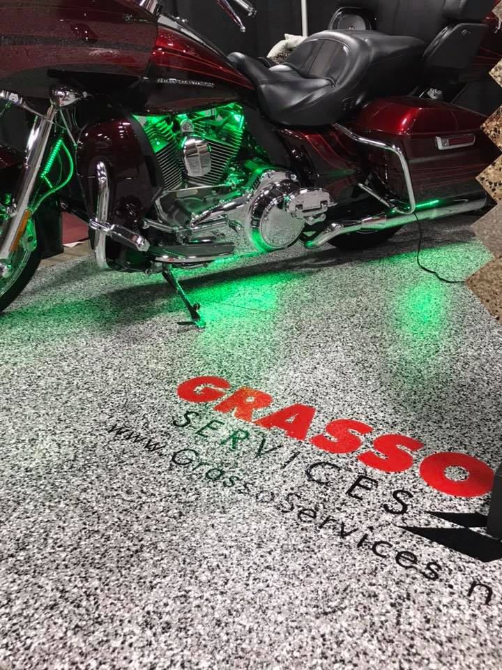 Motorcycle On Epoxy Garage Floor