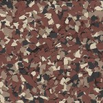 Chestnut Color flakes for garage floor coatings