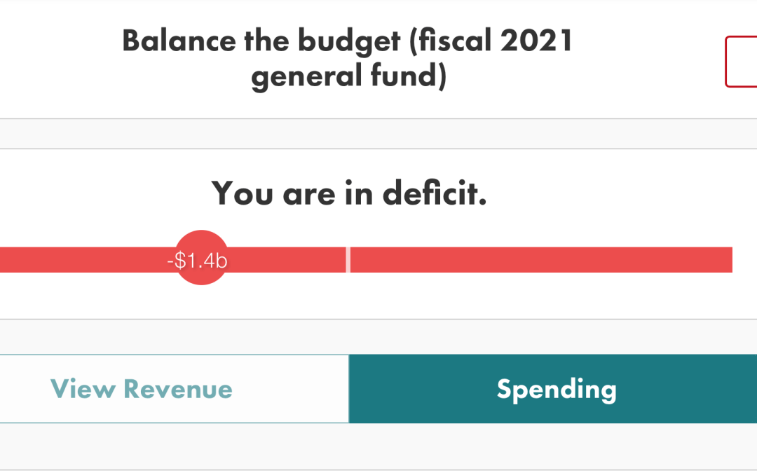 How to balance the budget in just a few clicks