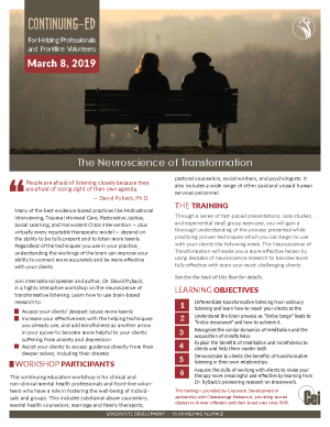 March 8, 2019 The Neuroscience of Transformation