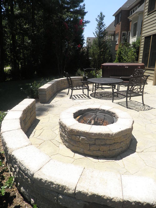Back Patio with Fire Pit and Hot Tub Pad