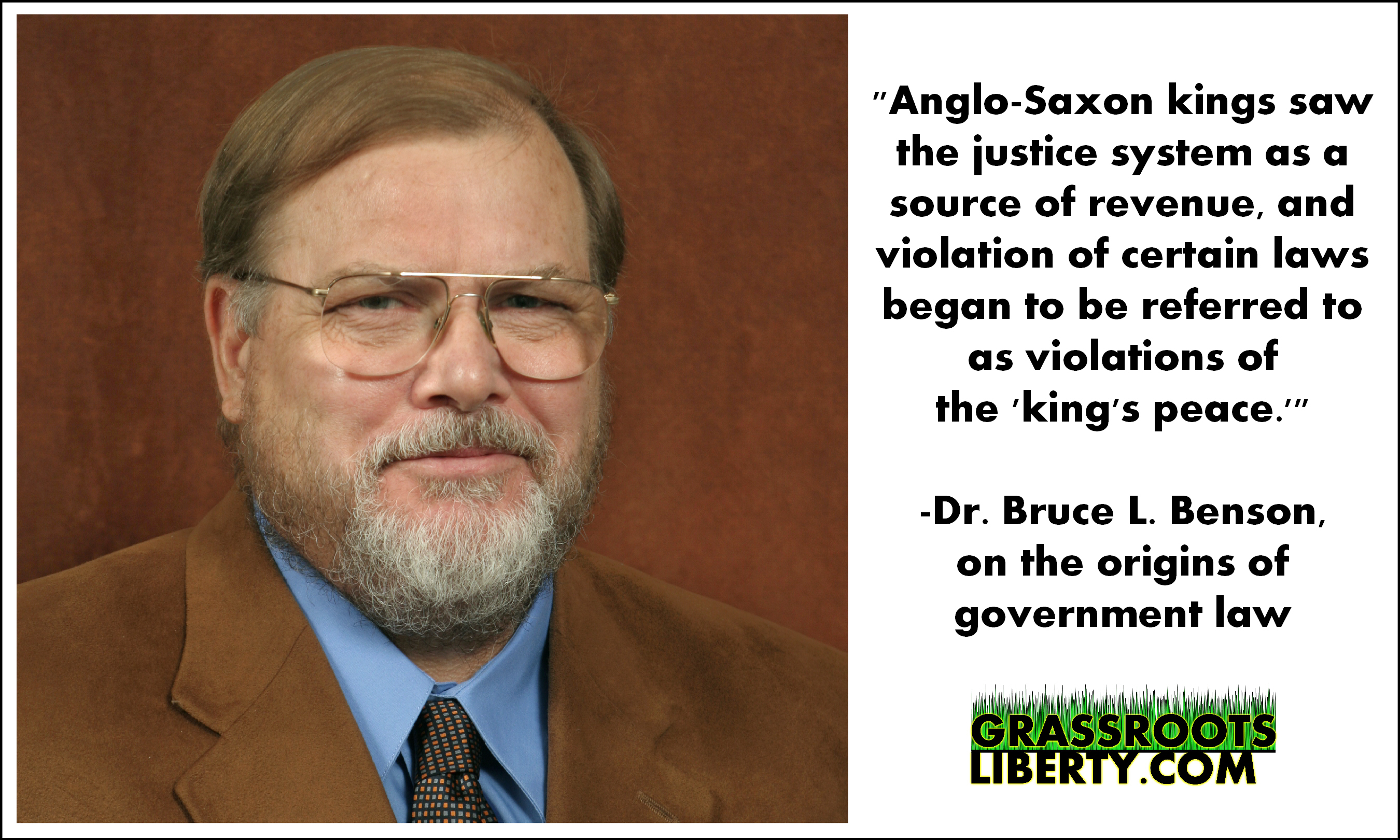 Quote Of The Day Bruce Benson On The Origins Of Government Law