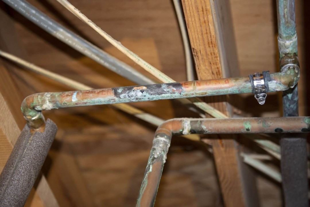 green corrosion on copper pipes
