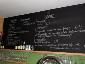 menukaart Cuisine ouVerte