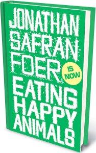 aangepaste cover van boek JSF Foer Eating Happy animals