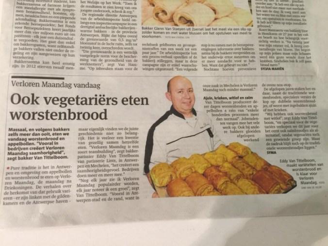 Gazet van Antwerpen, 13 januari 2015.