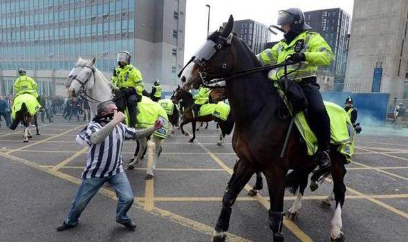 Politie te paard, Bron: animals in Human Society (zie link)