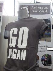 Go Vegan T shirt, Veggieworld