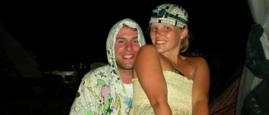 Us being w00ks at Bonnaroo '09.