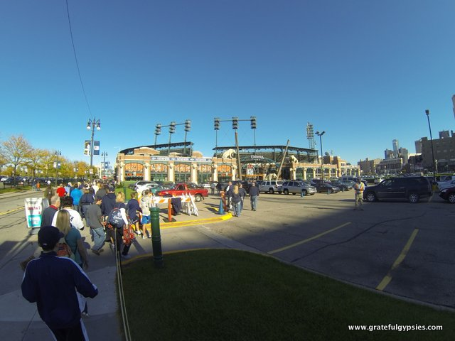 Walking into Comerica for a playoff game - what a great feeling!
