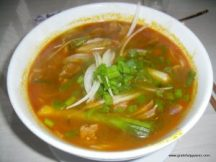 Amazing bun bo hue noodle soup.