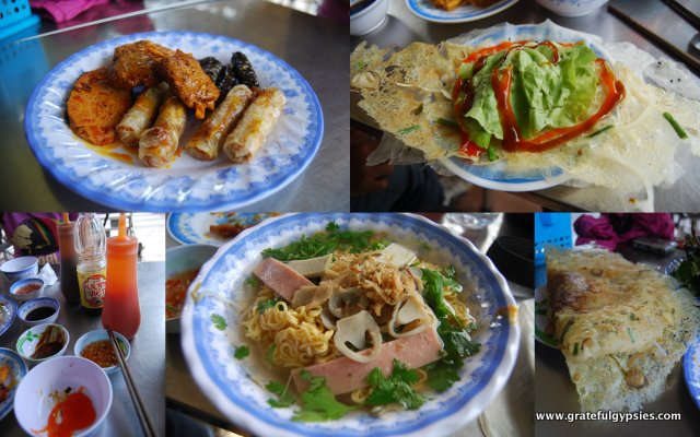 Amazing vegetarian lunch.