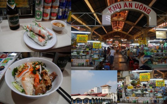 A tasty and cheap lunch in the market.